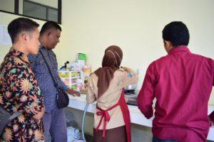 Pelatihan prosesing produk susu  Di Laboratorium Teknologi Hasil Ternak Fapet UB