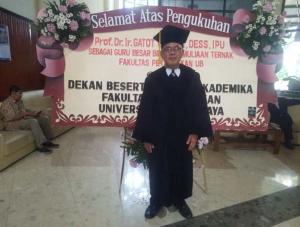 Prof Dr Ir Gatot Ciptadi, DESS. (ist)